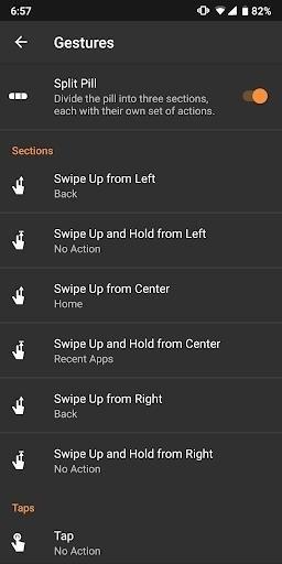 Скриншот Navigation Gestures для Android