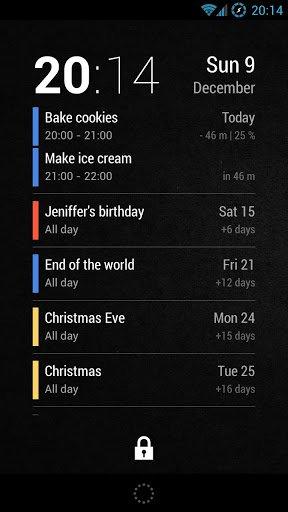 Скриншот Neat Calendar Widget для Android