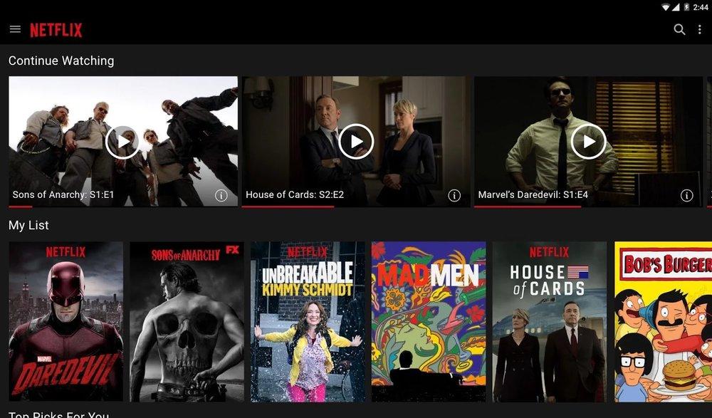 Скриншот Netflix для Android