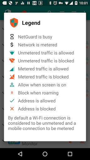 Скриншот NetGuard для Android