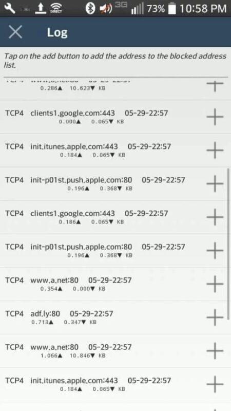 Скриншот NetShare Pro для Android