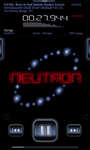 Скриншот Neutron Music Player для Android