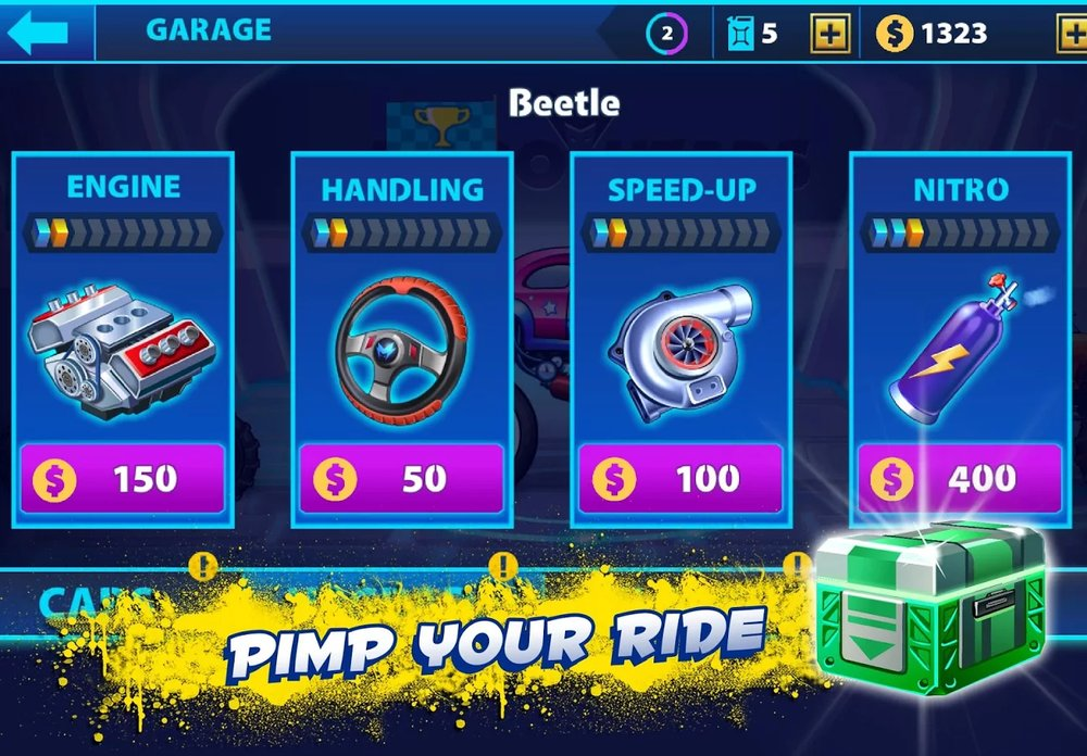 Скриншот Nitro Heads для Android
