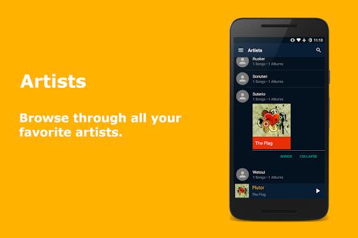 Скриншот N Music (Material) для Android