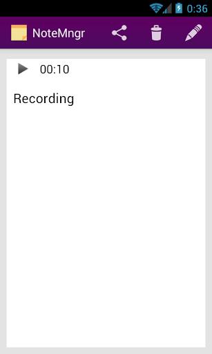 Скриншот NoteMngr — блокнот для Android
