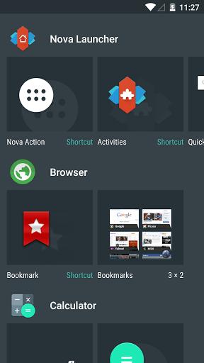 Скриншот Nova launcher для Android