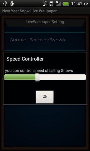 Скриншот Новый Год Снег Live Wallpaper для Android