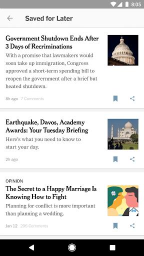 Скриншот NYTimes – Latest News для Android