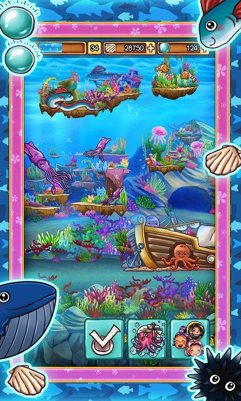 Скриншот Ocean Aquarium Pocket Island для Android