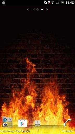 Скриншот Огонь Живые обои / Fire Live Wallpaper для Android