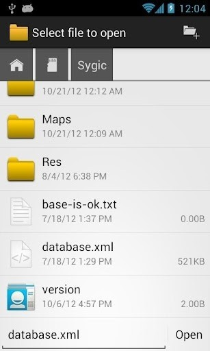 Скриншот OI File Manager для Android