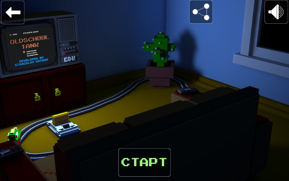 Скриншот Oldschool Tank для Android