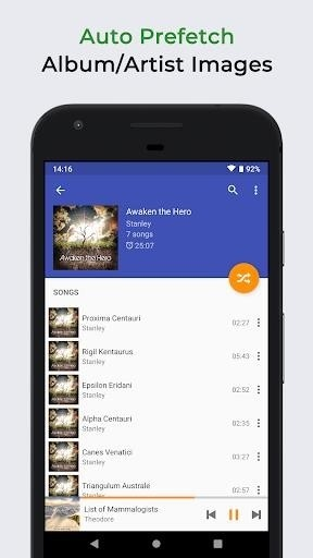 Скриншот Omnia Music Player для Android