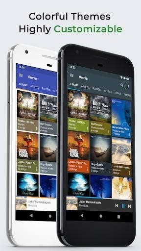 Скриншот Omnia Music Player для Android