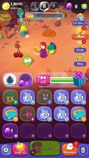 Скриншот Om Nom: Bubbles для Android