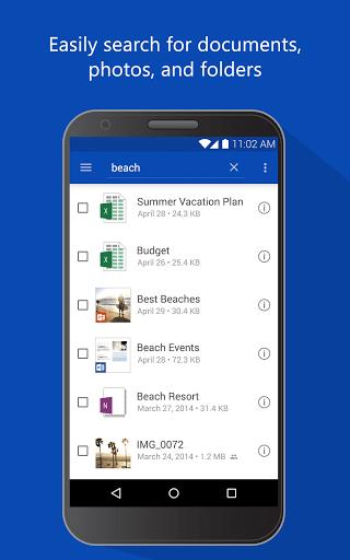 Скриншот OneDrive для Android