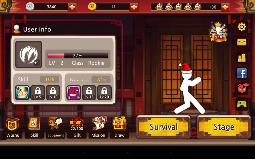 Скриншот One Finger Death Punch для Android