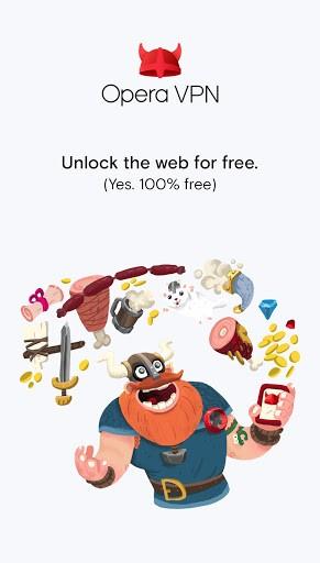 Скриншот Opera VPN для Android