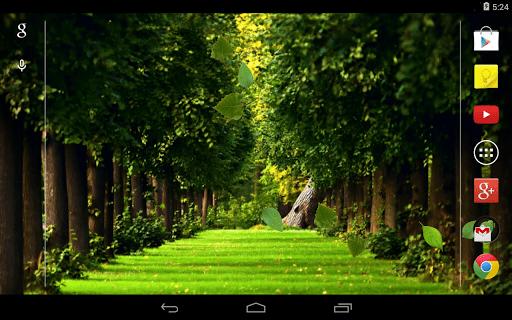 Скриншот Падающие Листья Живые Обои / Falling Leaves Live Wallpaper для Android