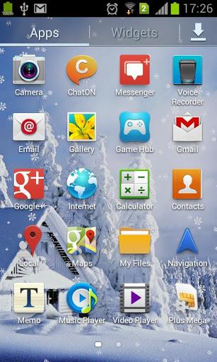 Скриншот Падающие снежинки живые обои / Winter nature LWP для Android