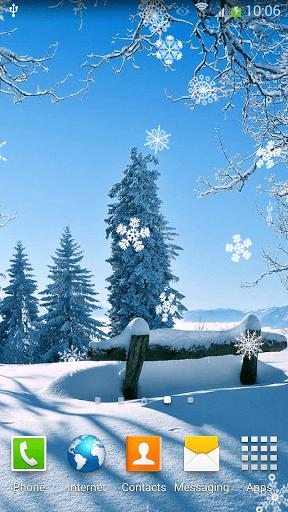 Скриншот Падающий Снег Живые Обои для Android