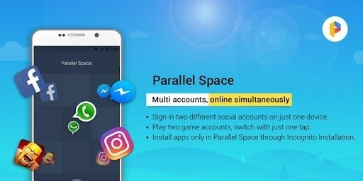 Скриншот Parallel Space Multi Accounts для Android