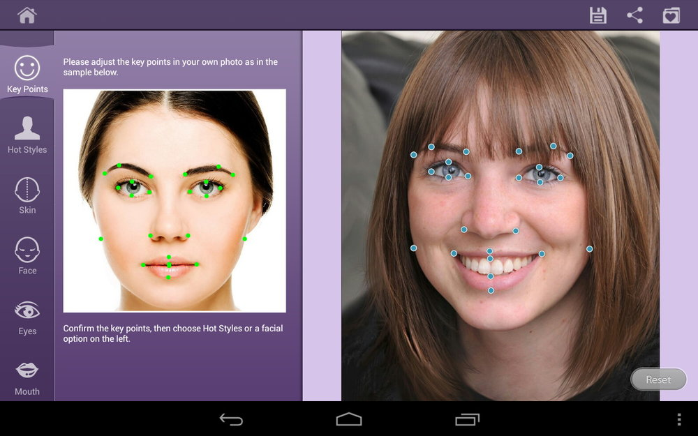 Скриншот Perfect365: One Tap Makeover для Android