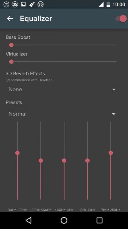 Скриншот Pi Music Player для Android