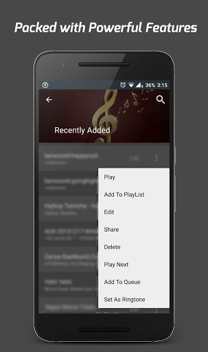 Скриншот Pi Music Player для Android