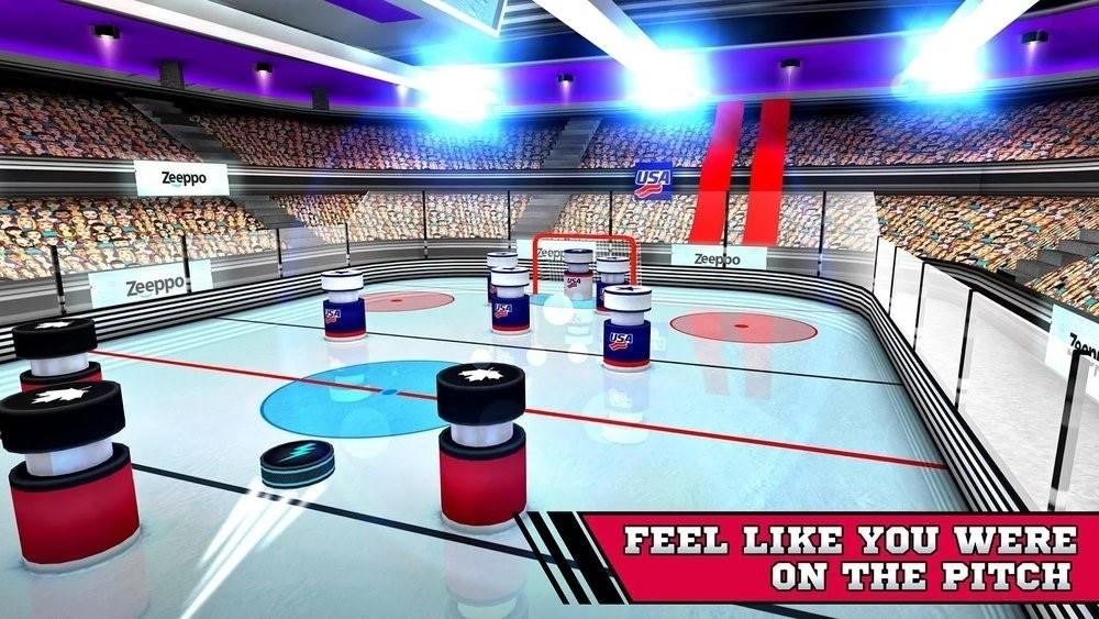 Скриншот Pin Hockey — Ice Arena для Android