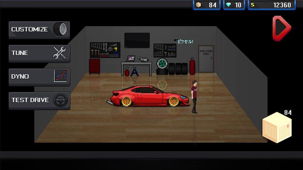 Скриншот Pixel Car Racer для Android