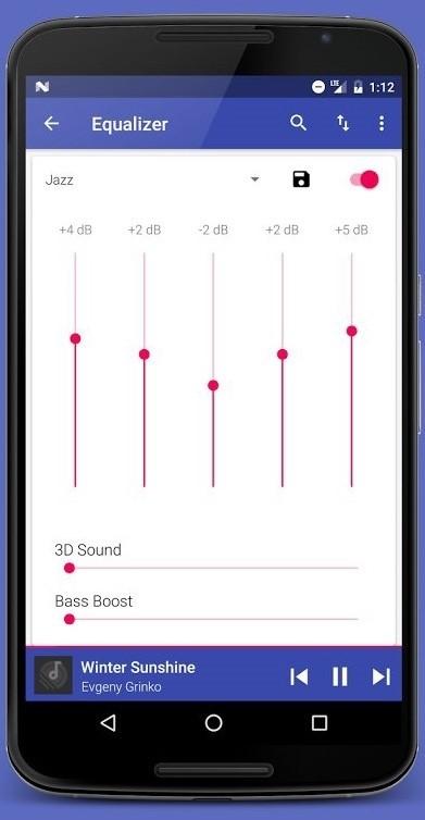 Скриншот Pixel Music Player для Android