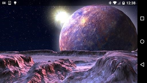 Скриншот Planet X 3D Live Wallpaper для Android