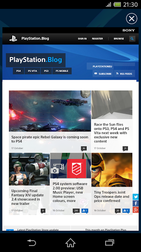 Скриншот PlayStation App для Android