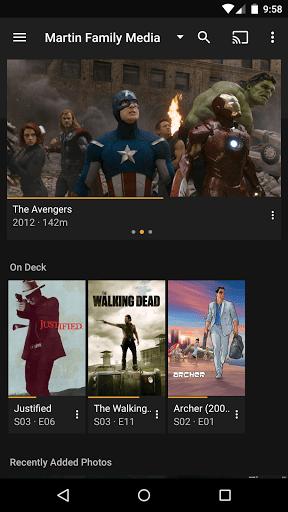 Скриншот Plex для Android