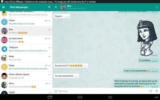 Скриншот Plus Messenger для Android