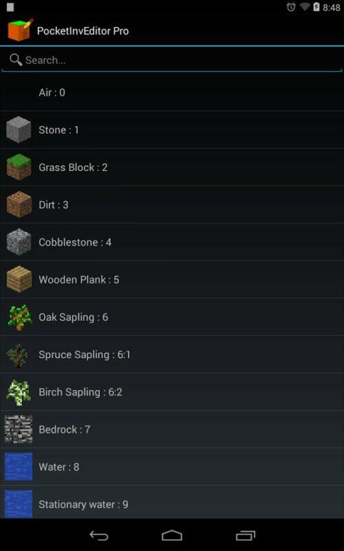 Скриншот PocketInvEditor Pro для Android