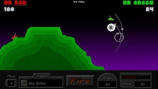 Скриншот Pocket Tanks для Android