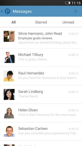 Скриншот Podio для Android