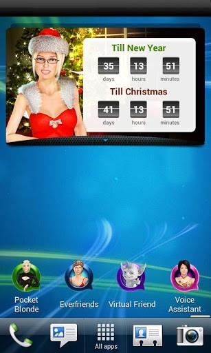 Скриншот Погода Часы Виджет на экране для Android