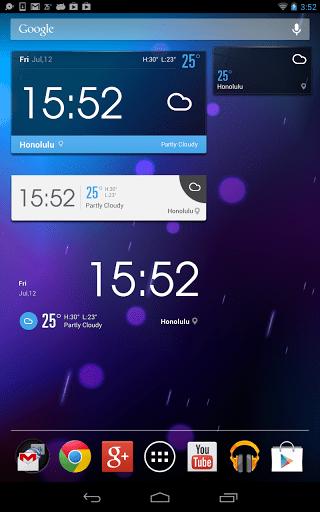 Скриншот Погода и Часы Amber Weather для Android