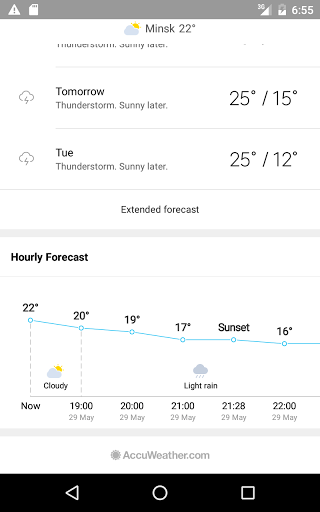 Скриншот Погода М8 для Android