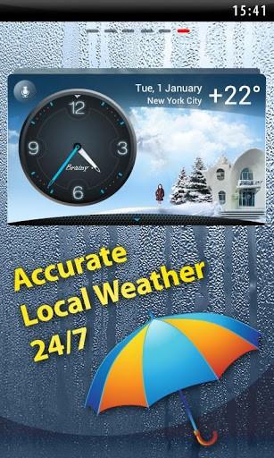 Скриншот Погода на экране, Виджет, Часы для Android