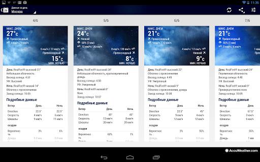Скриншот Погода по AccuWeather для Android