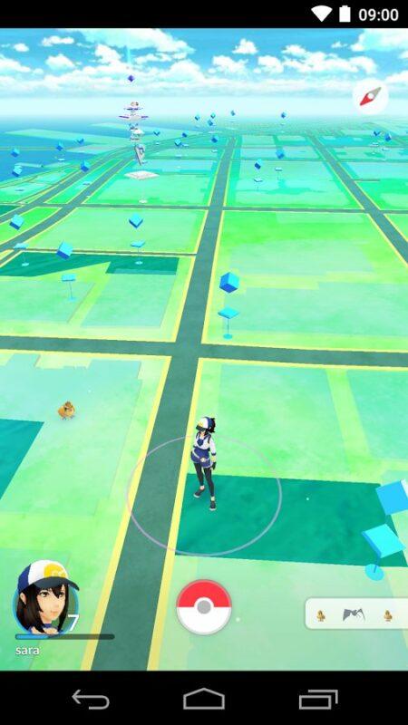 Скриншот Pokemon Go для Android