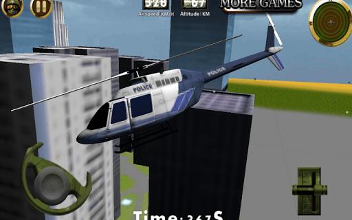 Скриншот Полиция вертолет — 3D полет для Android