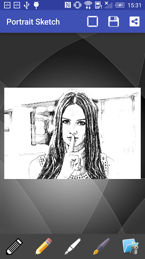Скриншот Portrait Sketch для Android