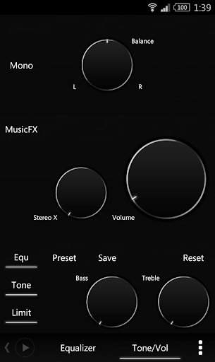 Скриншот Poweramp Black and White Skin для Android