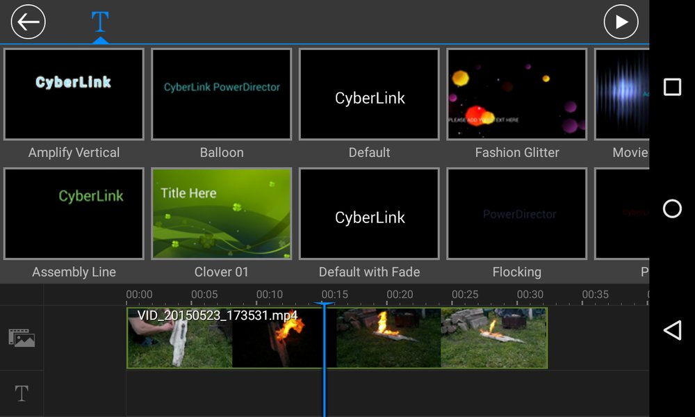 Скриншот PowerDirector Video Editor для Android