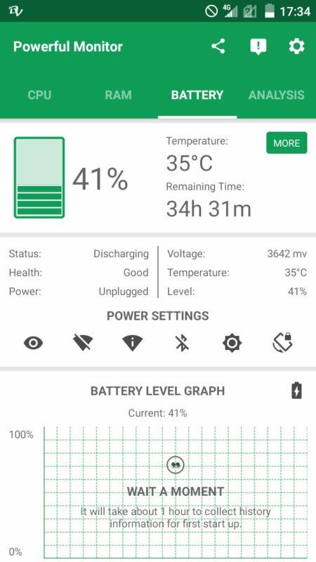 Скриншот Powerful System Monitor для Android